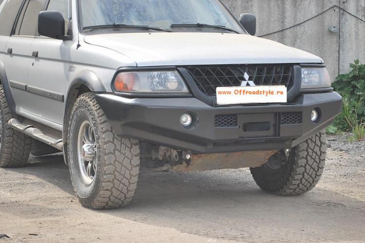 передний силовой бампер под лебедку Mitsubishi Pajero sport/L200 old белгород