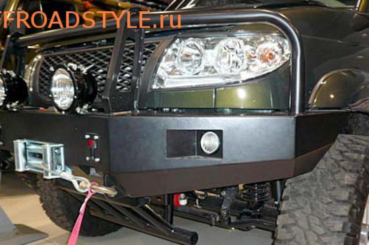 Передний силовой бампер с площадкой под лебёдку УАЗ патриот пикап белгород курск