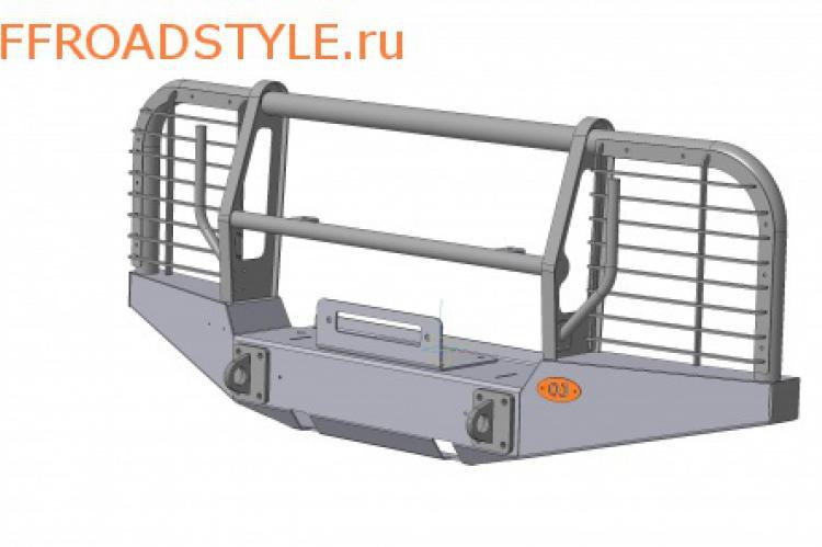 стальной передний бампер с лебедкой защитой для фар и радиатора на УАЗ белгород